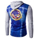 cheap 3D Printed Hooded Long Sleeves T-Shirt For Men