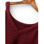 cheap Cold Shoulder Ripped Sweater