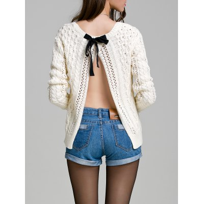 Long Sleeve Hollow Out Sweater