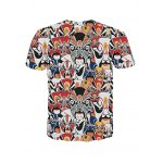 cheap Fashion Men's Pullover Peking Opera Actress Printed T-Shirt