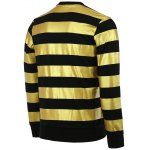Fashion Round Neck Color Block Stripes Pattern Slimming Long Sleeves Sweatshirt For Men for sale