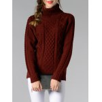 Long Sleeve Turtle Neck Solid Color Sweater deal