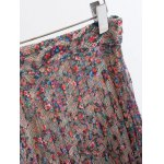 Fashion Printed Pleated Lace Midi Skirt For Women deal