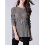 cheap Scoop Neck Long Sleeve Women's Thin Sweater
