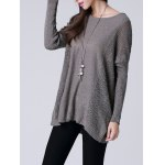 Scoop Neck Long Sleeve Women's Thin Sweater deal