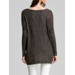 Scoop Neck Long Sleeve Women's Thin Sweater for sale
