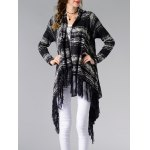 cheap Trendy Collarless Asymmetrical Fringed Women's Cardigan
