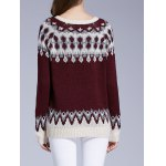 Long Sleeve Round Neck Patterned Sweater deal