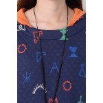 Hooded Cartoon Print Pullover Hoodie deal