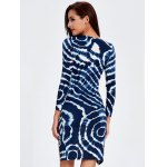 Plunge Printed Long Sleeve Night Out Dress for sale