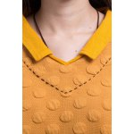 Stereo Dot Flat Collar Sweatshirt deal