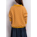 cheap Stereo Dot Flat Collar Sweatshirt
