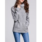 Hooded Long Sleeve Pocket Design Women's Sweater for sale