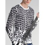 cheap Round Neck Long Sleeve Print T-Shirt For Men