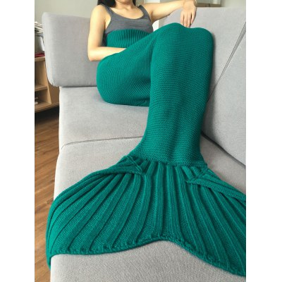 Knitted Mermaid Tail Design Blankets For Adult
