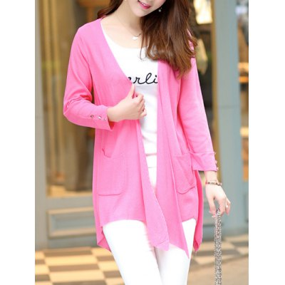 Candy Color Long Sleeve Thin Cardigan