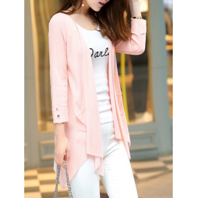 Long Sleeve Candy Color Thin Cardigan