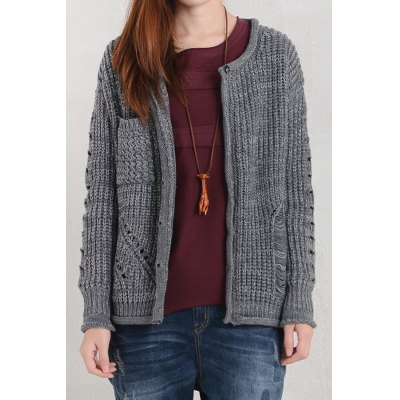 Openwork Knitted Cardigan