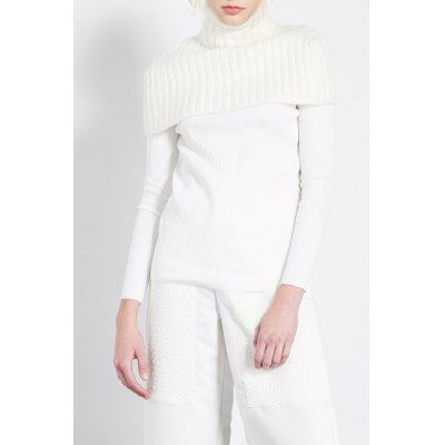 Pure Color Knitted Neck Shouder Warmer