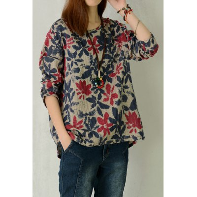 Pullover Floral Tee