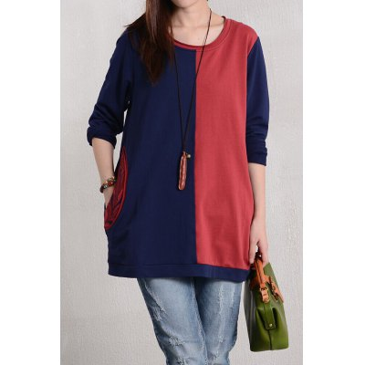 Color Block Loose T-Shirt