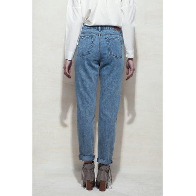 Embroidered Penicl Jeans