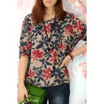cheap Pullover Floral Tee