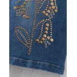 best Fashion Rivet Sequins Denim Skirt For Women