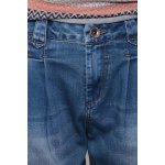Pleated Dark Wash Tapered Jeans deal