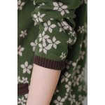 Tiny Flower Print Cotton Cardigan for sale