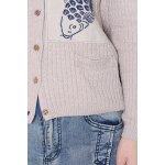 best Fish Embroidered Long Sleeve Cardigan