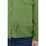 best Single Breasted Green Long Sleeve Cardigan