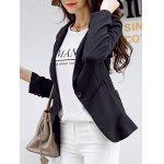 cheap Chic Pocket Design Single Button Blazer For Women