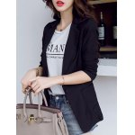 Casual Pure Color Pocket Blazer For Women deal