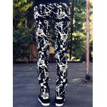 Abstract Print Zipper Fly Skinny Tapered Pants For Men deal