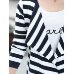 Long Sleeve Striped Thin Cardigan photo