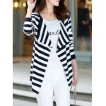 Long Sleeve Striped Thin Cardigan deal