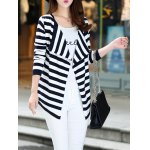 Long Sleeve Striped Thin Cardigan for sale