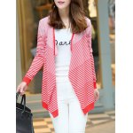 cheap Long Sleeve Striped Cardigan