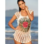Chic Floral Cut Out Crochet Cover-Up deal