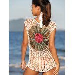 best Chic Floral Cut Out Crochet Cover-Up