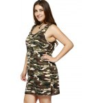 Plus Size Camouflage Print Sleeveless Dress deal