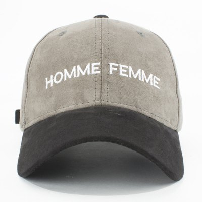 Fashion Faux Suede Letters Embroidery Retro Baseball Cap For Women