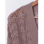 V Neck HollowOut Long Sleeves Knitwear deal