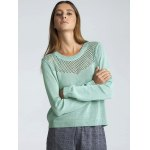 cheap Long Sleeve Hollow Out Pure Color Sweater
