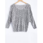 cheap Casual V-Neck Batwing Sleeve Hollow Knitwear For Women