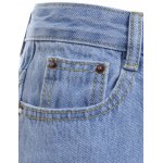 Stylish Women's Broken Hole Fringed Loose Denim Pants for sale