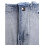 Chic Women's Broken Hole Bleach Wash Denim Pants deal