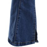 Chic Women's Side Slit Denim Boot Cut Pants photo