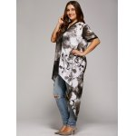 Plus Size Single Breasted Asymmetrical Blouse deal